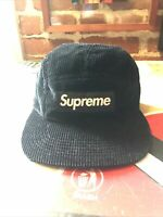 Supreme Corduroy Camp Cap Box Logo Black SS17