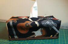 Guitars, Guitars, Tissue Box Cover Handmade