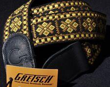 GRETSCH G BRAND GUITAR STRAP DIAMOND WITH BLACK ENDS