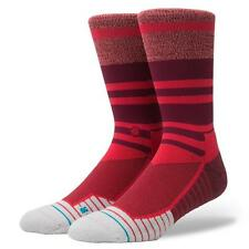 NEW STANCE SOCKS MEARA CREW FUSION M557A17MEA RED | Mens Large 9-12
