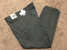 DOCKERS Straight Fit Easy Khaki Pant Flat Front Gray Heather 40X30 MSRP50 NEW