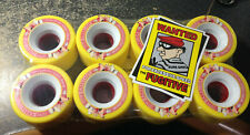 NEW SURE-GRIP YELLOW FUGITIVE MID 62MMX35MM 93A ROLLER SKATE QUAD SPEED WHEELS