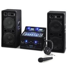 kompakte 2000 W DJ PA Anlage mit Boxen CD Player Mikro Verstärker Kopfhörer