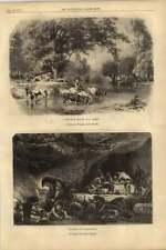 1855 Artworks Cavern Nanteuil Landscape Touraine Girardet