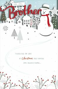 For You Nice Brother Traditional Christmas Greeting Card Special Xmas Cards