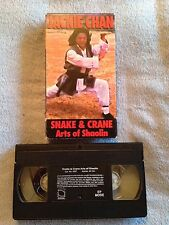 Snake and Crane Arts of Shaolin (1978) - VHS Video Tape - Action - Jackie Chan