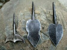 Antique African Mozambique Iron Steel Hunting Lot 3 Old Spear Shona Tribe Origin