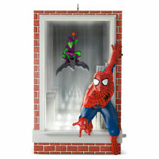 Hallmark Magic Ornament 2016 Slinging and Swinging - Spiderman  -NEW