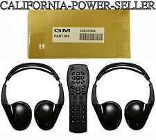 2007 to 2013 Chevrolet Silverado DVD Entertainment Headphones Set + Remote OEM