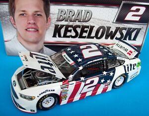 Brad Keselowski 2017 Miller Lite Patriotic Ford #2 Signed Autograph 1/24 NASCAR