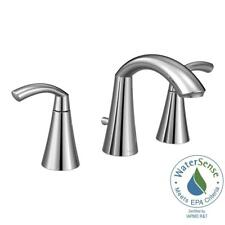 MOEN Glyde 8 in. Widespread 2-Handle High-Arc Bathroom Faucet in Chrome
