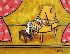 jack russell terrier 11x14 art Print piano animals gift new listed by art