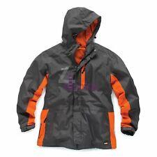 Worker Jacket All Weather Waterproof Jacket Hardwearing Nylon Fabric Charcoal S