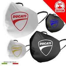 Mascherina Cotone Ducati Personalizzata 100% Made in Italy moto adulto bambino