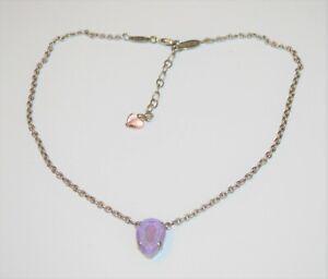 "Sabika Choker Necklace 16-18""  Retired W18 Pear Light Purple Crystal Pendant"