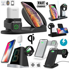 3in1 Qi Wireless Fast Charger Dock Stand For Apple Watch Airpods iPhone X XR XS