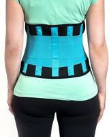 Neoprene Lower Back Support Belt Lumbar Brace Waist Posture Pain Relief Blue UK