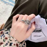Damen Silberring Silber 925 Ring Verstellbar Offen Vintage Modeschmuck