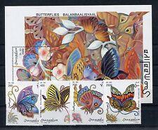 Somalia 636/39 Block 42 postfrisch / Schmetterlinge ......................1/1042