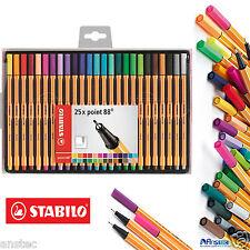 STABILO Fineliner Point 88 Penna a sfera-colori assortiti confezione da 25