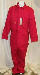 NEW DICKIES DELUXE LONG SLEEVE COVERALLS RED 4870RD
