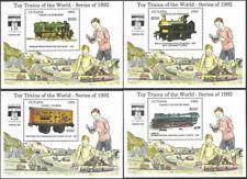 """GUYANA - 1992 MNH """"Trains - TOY TRAINS"""" Seven Mini Souvenir Sheets !!!"""