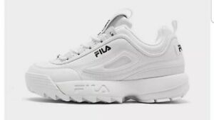 Fila Disruptor II Sneakers Shoes Youth Kid Size 6.5 White