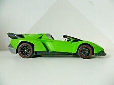 Lamborghini Veneno Telecomando Auto Verde Taglia 1/16th Testato & Lavoro.