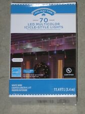 Holiday Time 70 Multicolor LED Micro Icicle Style Lights NEW!!!!