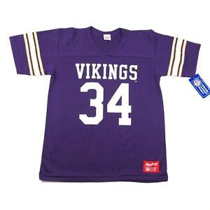 Vintage Minnesota Vikings Mens M Purple Football Jersey #34 Herschel Walker 90s