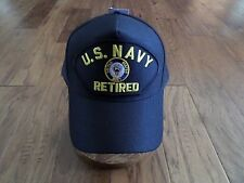 U.S MILITARY NAVY RETIRED HAT U.S MILITARY OFFICIAL BALL CAP U.S.A MADE