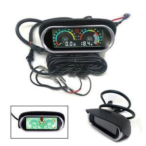 2in1 Dashboard LCD Digital Display 12/24V Autos Oil Pressure Gauge + Voltmeter