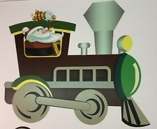 3 Piece Christmas Train Lawn Decoration w/ 6 short stakes - Seconds