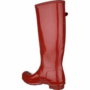 Hunter Womens Womens Original Tall Gloss Rubber Closed, Military Red, Size 6.0