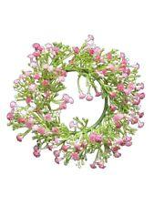 Kranz Blütenkranz Kunstblumen Blumen Rosé Shabby Chic Vintage Landhaus 18 cm NEU