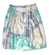 Authentic DRIES VAN NOTEN silk/cotton WATERCOLOR FLORAL skirt DE 38 US 8