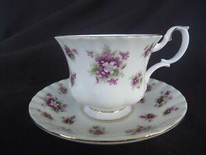 royal albert sweet violets tea  cup & saucer  bone china