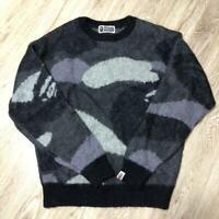 A BATHING APE BAPE CAMO MOHAIR KNIT Sweater F/S