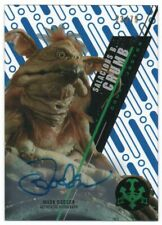 2016 Star Wars High Tek Autographs Blue Mark Dodson Salacious Crumb Auto 23/75