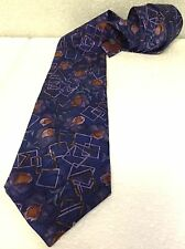 CHRISTIAN DIOR Monsieur Mens Designer Neck Tie - Abstract Multi-colored