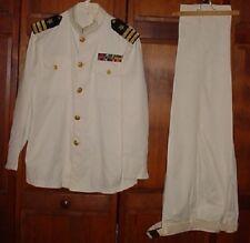 U.S. Navy Officer Dress White (Choker) Uniform W/Insignia