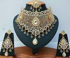 Schmuck Set 3 Teilig Gold Stirnschmuck Kette Ohrringe Bollywood Indien Hochzeit