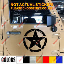 Army Star WW2 Off Road 4x4 Decal Sticker Car Vinyl fit for Ford Jeep Toyoto c