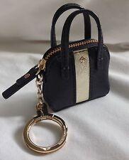 Kate Spade Black & Gold Saffiano Leather Mini Maise Purse Coin Keychain NWOT