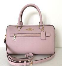 New Coach 79946 Rowan Satchel Crossgrain Leather handbag Blossom