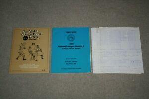1982 NCAA DIV 2 College World Series PROGRAM + PRESS BOOK + MEDIA BOX SCORES