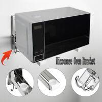 2 PCS Microwave Oven Bracket Foldable Stretch Wall Mount Rack Shelf Sturdy Stand