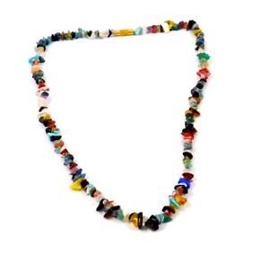 Natural Multi Stone Rough Uncut Polished Beads Necklace Jewelry MNG22517