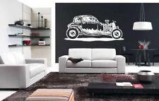 Wall Vinyl Sticker Decals Mural Room Design Old Car Retro Automobile   bo1655