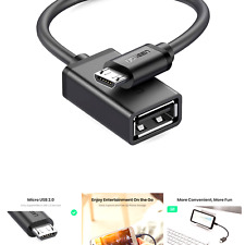 UGREEN Micro USB 2.0 OTG Cable On The Go Adapter Male Micro USB to Female USB...